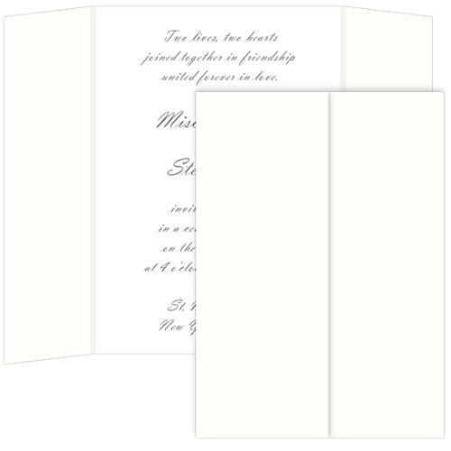 (Gatefold Invitation Enclosure - 5 x 7, Matte Wedding White, 25 Pack)