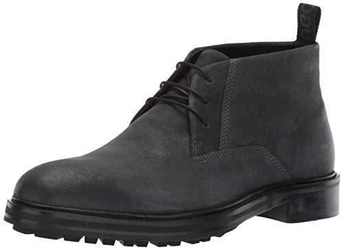 Hugo Boss Hugo Men's Bohemian Desert Boot Fashion, Dark Grey, 10 Medium US (Hugo Boss Shoes Boots)