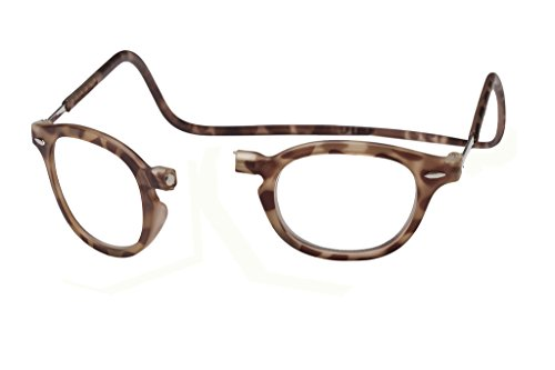 Clic Magnetic Vintage Oval Reading Glasses in Light Demi-Tortoise ; +3.00
