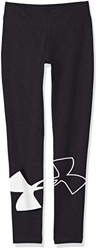 Under Armour Kids Girl's Favorite Knit Leggings (Big Kids) Black/White X-Small by Under Armour (Image #1)