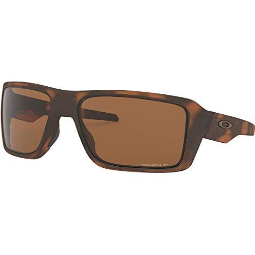 Oakley Men's Double Edge 0OO9380 Polarized Iridium Rectangular Sunglasses, MATTE TORTOISE, 66 mm (Oakley Sonnenbrille Damen Polarisiert)