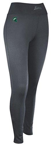- Zubaz NCAA Michigan State Spartans Women's Solid Charcoal Team Logo Leggings, Medium, Charcoal