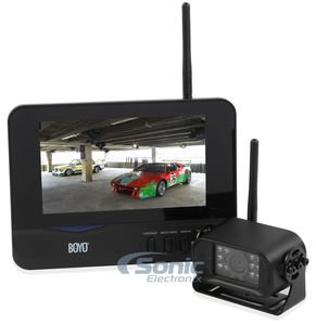Boyo VTC700R 2.4 Ghz Digital Wireless Rear View Mirror - Rear Cameras View Boyo
