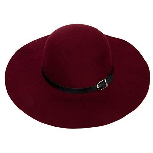 Aerusi Women s Vintage Wool Floppy Hat (Burgundy) at Amazon Women s ... f0eefe64932