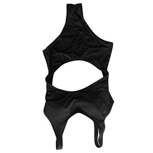 Schlussverkauf LEXUPE Badeanzug Frauen bedeckt Bauch war dünn in Wind konservativ Siamesische Neue kleine Brust versammelten Badeanzug Bademode Frau heißen Frühling sexy Schwarz TI9E1d41