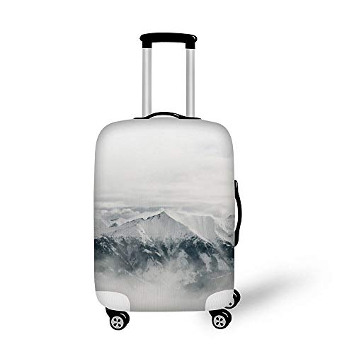 Luggage Protector Cover Elasticity Suitcase Cover Travel Luggage Cover White Snow Winter Mountain Top Sunshine No Man'S Land Color11 S