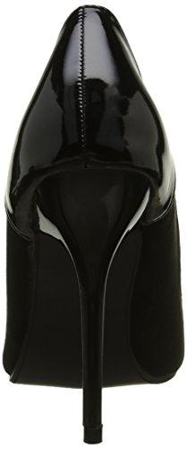 Noir Verni Mode Haut Aiguille Cm Chaussure Talon 11 Stiletto Femme Escarpin Angkorly TPqwXA