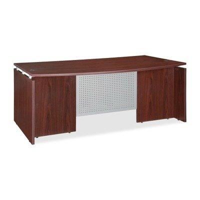 Lorell LLR68680 Executive Desk, Mahogany -
