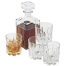 Excalibur Whiskey 5 Piece Decanter Gift Set - Made In Italy