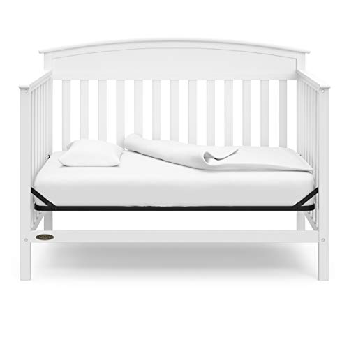 31WAF9ZHteL - Graco Benton 4-in-1 Convertible Crib, White, Solid Pine And Wood Product Construction, Converts To Toddler Bed Or Day Bed (Mattress Not Included)