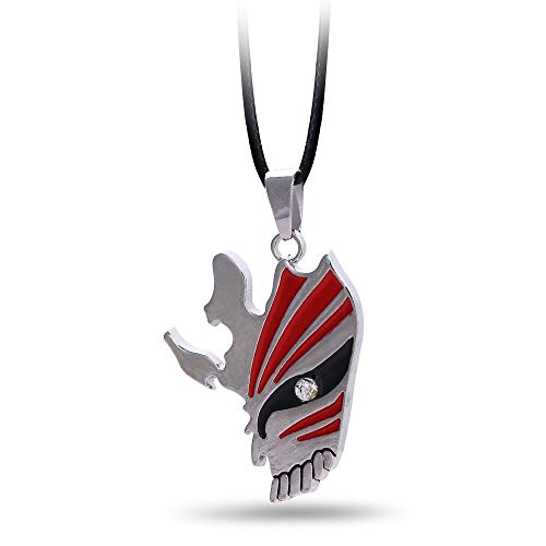 Mct12-10pcs/lot BLEACH Choker Necklace Kurosaki ichigo Mask Pendant Men Women Gift Anime Jewelry Accessories (Bleach Ichigo Kurosaki Necklace)