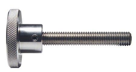 1 Each Knurled Knob w//Stud Reid Select Stainless Steel #10-32 x 1//2 3//4 Dia.