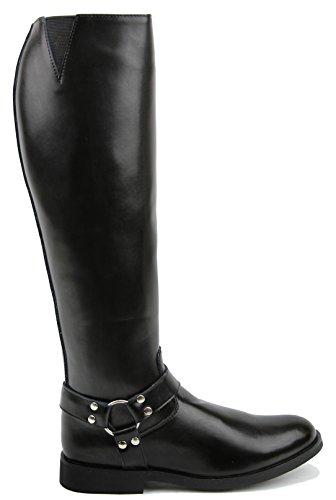 087e27a0f74 FAMMZ Casper Harness Men s Man Motorcycle Police Leather Fashion Stylish  Tall Riding Boots