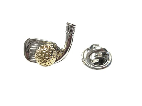 Gold and Silver Toned Golfer Lapel ()