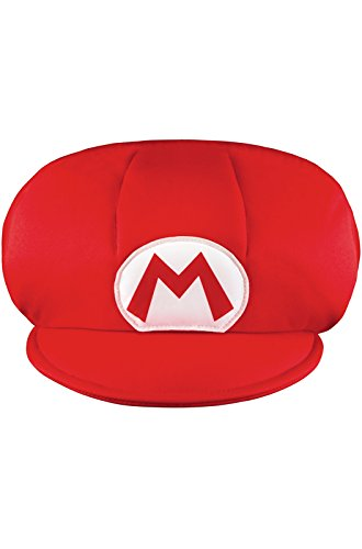 Disguise Nintendo Super Mario Brothers Mario Child Hat, One Size Child (Mario And Luigi Costumes Kids)