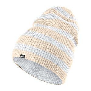 Image Unavailable. Image not available for. Colour  Nike Snowboard Slouch  Ivory White Stripes Beanie Winter Sport Snow Hat Womens OS a81b322b9