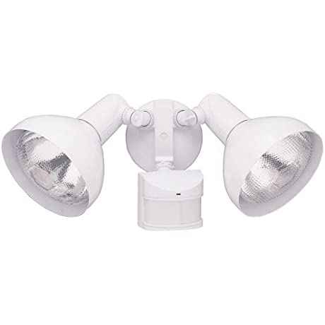 Heath Zenith SL 5105 WH CreepZone And DualBrite Motion Sensing Security Light With Full Metal Covers White