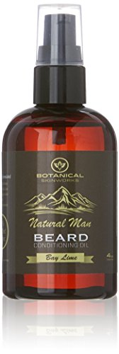 Works Natural (Botanical Skin Works Natural Man Bay Lime Beard Oil, All Natural Beard Conditioner, 4 oz.)