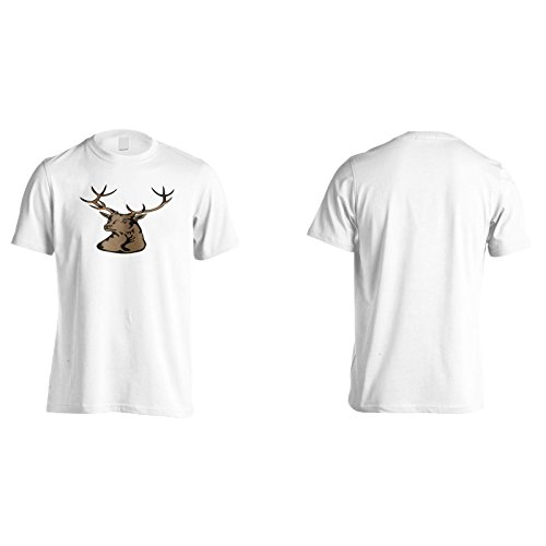 Neue Hirschkopfjäger Tier Herren T-Shirt l612m