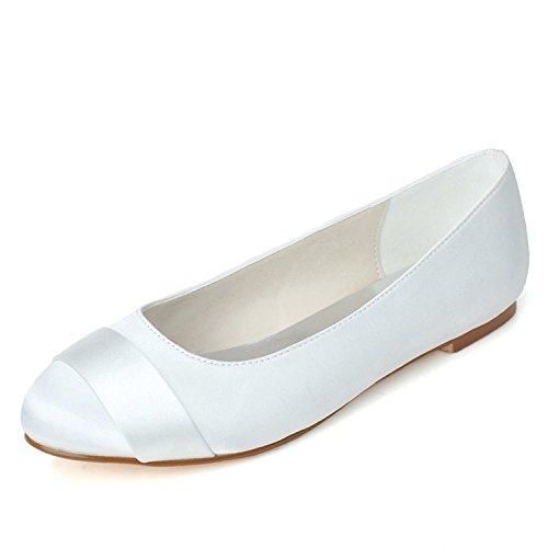 L@YC Frauen Hochzeitsschuhe Komfortable Balletttänzer Hochzeit & Abend / Flache Schuhe / Mehrfarbige große Werften Weiß