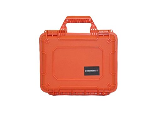 Condition 1 14'' Medium #075 Orange Waterproof Hard Case with DIY Customizable Foam by Condition 1