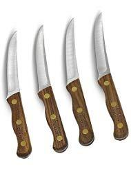 Chicago Cutlery Walnut 4 Piece Steak Knife Set by Chicago Cutlery