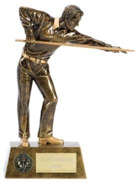 Trophy 15,2/cm Premier Billard//Snooker avec Gravure Gratuite jusqu/à 30/Lettres A1381/a