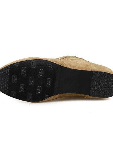 Punta Vellón Gray Marrón Mujer Redonda Casual Zapatos Cn34 Xzz us8 C Moda Cn39 Amarillo Black Uk6 La Tacón us5 Botas Negro Gris Eu39 Uk3 De Eu35 Vestido A Bajo SZxXwAOw