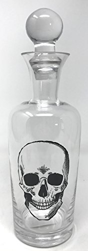 India Handcraft Glass Skelton Skull Spirits Decanter Barware]()