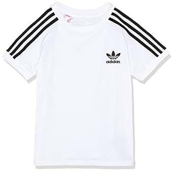 adidas Boys' California Tee, White/Black(White), 128(7-8 Years)