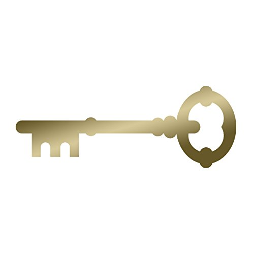 Lever Lock Master Skeleton Key 18th Century Vintage Old Style - Vinyl Decal for Outdoor Use on Cars, ATV, Boats, Windows and More - Gold 4 - World Pewter Olde