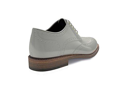 Dis - Monica – Zapato Derby Full Brogue – Mujer blanco