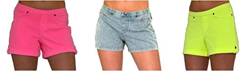 Hue Womens Shorts 3 Pairs Denim Chino Stretch Jeans (Small (4/6))