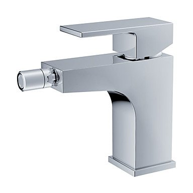 Handle Centerset Bidet Faucet - Contemporary Centerset Single Handle One Hole in Chrome Bidet Faucet