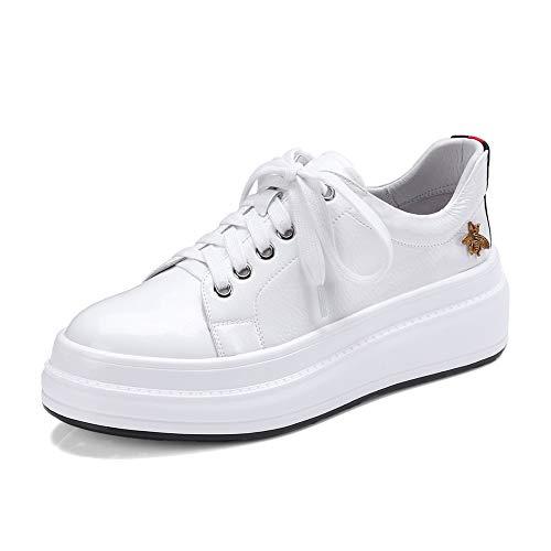 forme Taille Nouvelle Grande White Dropship Mode 2018 À Vulcanize Femme 40 Haute 34 Hoesczs Qualité Plate Chaussures Lacets Femmes w8ZICxWq