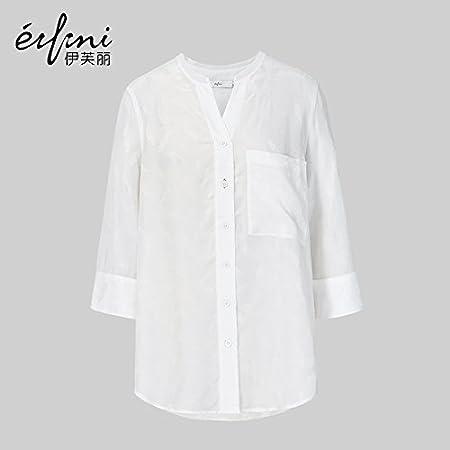 XXIN Suelto/Camisa/Camiseta Blanca Hembra/M/Blanco: Amazon.es ...