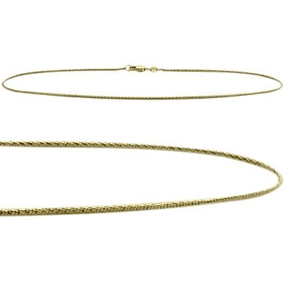 10K Yellow Gold 10 Inch Snake Style Anklet by Elite Jewels
