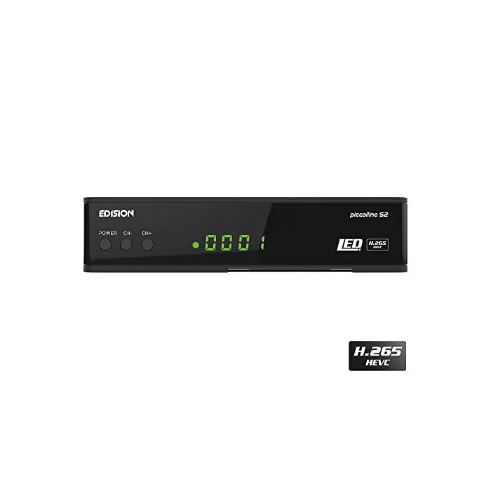 31WAY5rFPmL Haz clic aquí para comprobar si este producto es compatible con tu modelo Full HD receptor de satélite (DVB-S2) libre para todos canales digitales de radio & programas TV La Piccollino le ofrece conmutación rápida, Full HD y LAN
