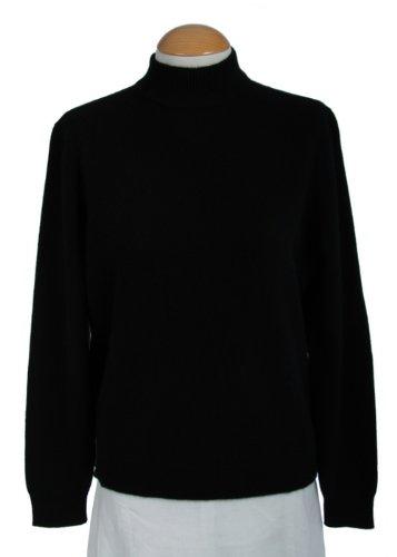 Shephe Womens Mock Turtleneck Cashmere Sweater Black (XX-Large)