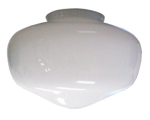 Contemporary Schoolhouse Globe Glass - Royal Pacific 3001G 4-Inch Schoolhouse Globe Glass Center Shade For Ceiling Fan Light