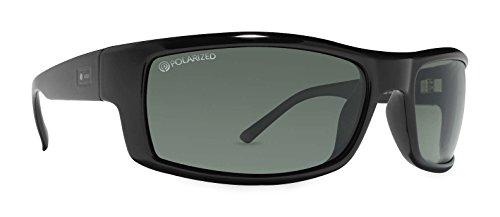 Dot Dash Mens The Gooch Polarized Sunglasses, Black w/ Grey, - Pin Dot Glasses