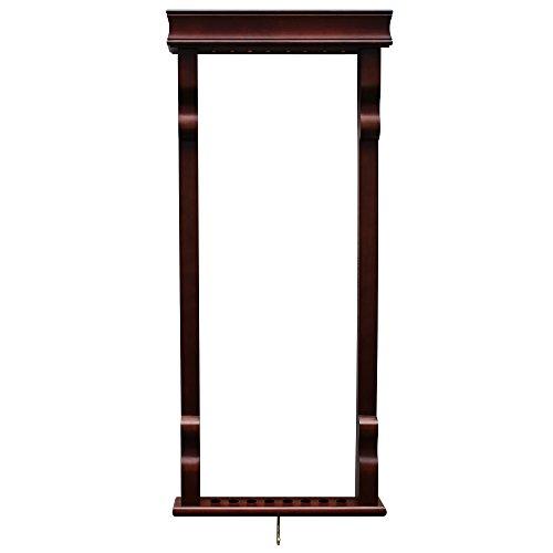 Hathaway Vintage Wall Billiard Pool Cue Rack, Antique - Walnut Pool