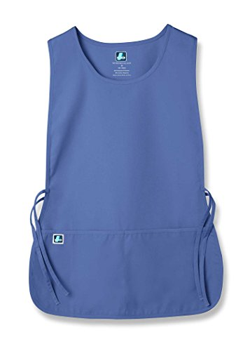 (Adar Unisex Cobbler Apron with 2 Pocket/Adjustable Ties - Ceil Blue - Regular)