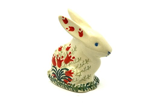 Polish Pottery Rabbit Figurine - Small - Crimson Bells for sale  Delivered anywhere in USA