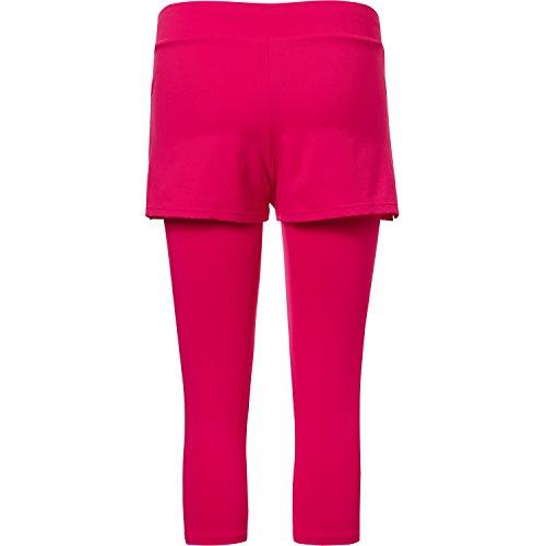 Sportkind Shorts avec leggings intégré de tennis / hockey sur gazon / course à pied pour fille et femme en rose fuchsia tailles 4 ans à XXL