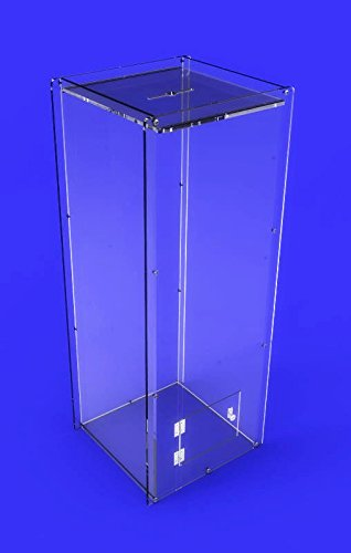 FixtureDisplays Clear Acrylic Donation Box Poll Collection Box Ballot Box 3488