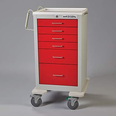 Divine Medical Waterloo Med Jr. Cart (Red)