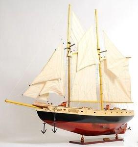 (Schooner Bluenose Ii Wood Ship Model Sailboat 38