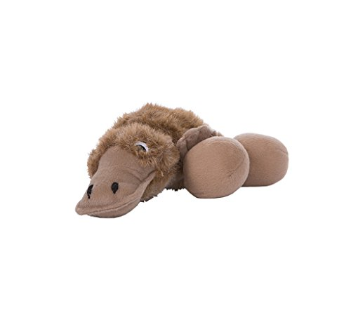 Outward Hound 31008 Egg Babies Platypus Plush Dog Toys Squeak Toy Dog Puzzle Large Brown