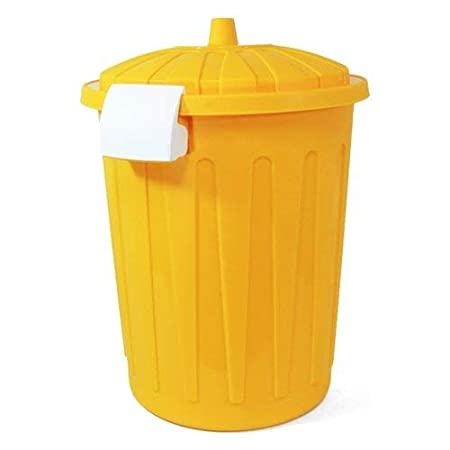 Blim Round Garbage Bin with Lid, Yellow, One Size, 23 Litre: Amazon